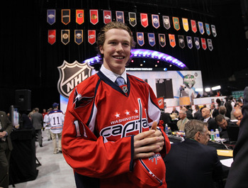 ST PAUL, MN - JUNE 25:  Patrick Koudys, drafted 147th by the Washington Capitals, smiles during day two of the 2011 NHL Entry Draft at Xcel Energy Center on June 25, 2011 in St Paul, Minnesota.  (Photo by Bruce Bennett/Getty Images)