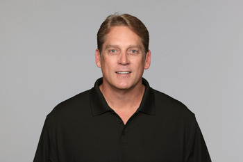 JACKSONVILLE, FL - CIRCA 2010:  In this handout photo provided by the NFL,  Jack Del Rio of the Jacksonville Jaguars poses for his 2010 NFL headshot circa 2010 in Jacksonville, Florida. (Photo by NFL via Getty Images)