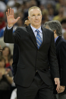 HOUSTON, TX - APRIL 04:  Naismith Memorial Basketball Hall of Fame 2011 inductee Chris Mullin looks on during halftime of the National Championship Game of the 2011 NCAA Division I Men's Basketball Tournament at Reliant Stadium on April 4, 2011 in Houston