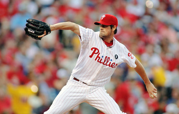 PHILADELPHIA - JUNE 25:  Cole Hamels #35 of the Philadelphia Phillies pitches against the Oakland Athletics at Citizens Bank Park on June 25, 2011 in Philadelphia, Pennsylvania.  (Photo by Len Redkoles/Getty Images)
