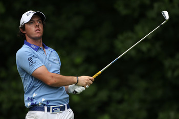 BETHESDA, MD - JUNE 19:  Rory McIlroy of Northern Ireland hits a shot during the final round of the 111th U.S. Open at Congressional Country Club on June 19, 2011 in Bethesda, Maryland.  (Photo by Andrew Redington/Getty Images)