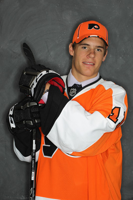 ST PAUL, MN - JUNE 25:  68th overall pick Nick Cousins by the Philadelphia Flyers poses for a portrait during day two of the 2011 NHL Entry Draft at Xcel Energy Center on June 25, 2011 in St Paul, Minnesota.  (Photo by Nick Laham/Getty Images)