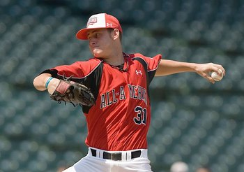 CHICAGO, IL - AUGUST 17: Tyler Matzek #31 of the Team One team pitches against of the Baseball Factory team during the Under Armour All-America Baseball Game at Wrigley Field on August 17, 2008 in Chicago, Illinois.  (Photo by Dilip Vishwanat/Getty Images