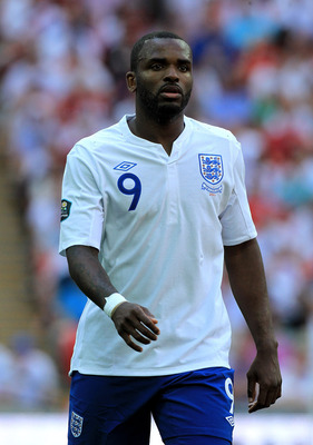 LONDON, ENGLAND - JUNE 04:   Darren Bent of England looks on during the UEFA EURO 2012 group G qualifying match between England and Switzerland at Wembley Stadium on June 4, 2011 in London, England.  (Photo by David Cannon/Getty Images)