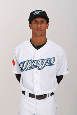DUNEDIN, FL - FEBRUARY 20:  Anthony Gose #43 of the Toronto Blue Jays poses during photo day at Florida Auto Exchange Stadium on February 20, 2011 in Dunedin, Florida.  (Photo by Nick Laham/Getty Images)