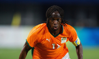 QINHUANGDAO, CHINA - AUGUST 16:  Gervinho of Ivory Coast controls the ball during the Men's Quarter Final match between Nigeria and Ivory Coast at Qinhuangdao Olympic Sports Center Stadium on Day 8 of the Beijing 2008 Olympic Games on August 16, 2008 in Q