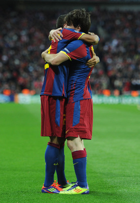 Dani Alves can only hope to get this close to Messi on July 24th