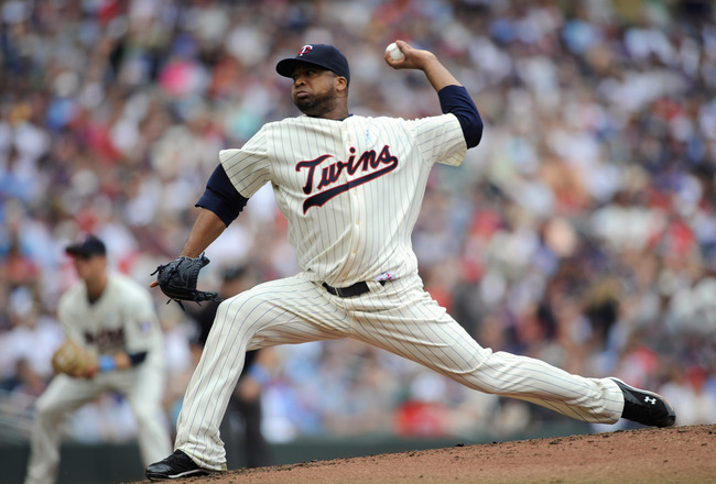 MINNEAPOLIS, MN - JUNE 19: Francisco Liriano #47 of the Minnesota Twins delivers a pitch against the San Diego Padres in the second inning on June 19, 2011 at Target Field in Minneapolis, Minnesota. (Photo by Hannah Foslien/Getty Images)