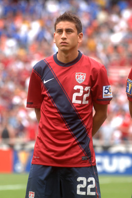 WASHINGTON, DC - JUNE 19:  Alejandro Bedoya #17 of the United States looks on before match against Jamaica during the 2011 Gold Cup Quarterfinals on June 19, 2011 at RFK Stadium in Washington, D.C.  The United States won 2-0.  (Photo by Mitchell Layton/Ge