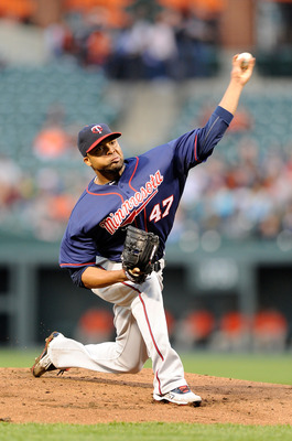 BALTIMORE, MD - APRIL 18:  Francisco Liriano #47 of the Minnesota Twins pitches against the Baltimore Orioles at Oriole Park at Camden Yards on April 18, 2011 in Baltimore, Maryland.  (Photo by Greg Fiume/Getty Images)