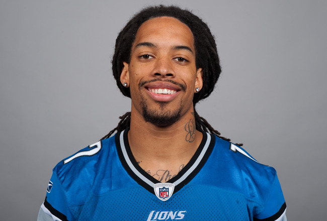 DETROIT, MI - CIRCA 2010:  In this photo provided by the NFL, Mike Moore of the Detroit Lions poses for his 2010 NFL headshot circa 2010 in Detroit, Michigan.  (Photo by NFL via Getty Images)