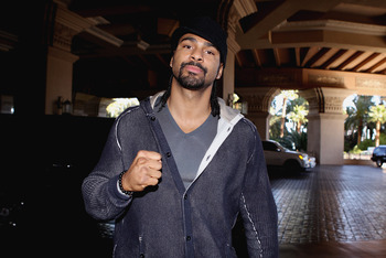 LAS VEGAS - DECEMBER 07:  David Haye arrives at the Mandalay Bay resort to preview the fight between Amir Khan and Maros Maidana on December 7, 2010 in Las Vegas, Nevada.  (Photo by Scott Heavey/Getty Images)