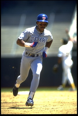 Julio Franco, 1990. He may or may not have already been 50 years-old that season.