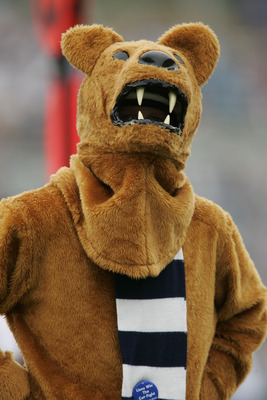 EVANSTON, IL - SEPTEMBER 24:  The Penn State Nittany Lions mascot is seen against the Northwestern Wildcats September 24, 2005 at Ryan Field in Evanston, Illinois.  Penn State won 34-29.   (Photo by Brian Bahr/Getty Images)