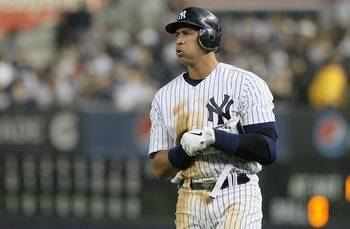NEW YORK, NY - JUNE 24:  Alex Rodriguez #13 of the New York Yankees looks on after grounding out to end the eighth inning against the Colorado Rockies on June 24, 2011 at Yankee Stadium in the Bronx borough of New York City.  (Photo by Jim McIsaac/Getty I