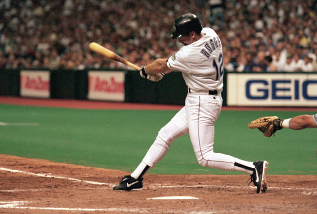 ST. PETERSBURG, FL - AUGUST 7:  Wade Boggs #12 of the Tampa Bay Devils Rays hits his 3000th hit and second home run of the season in the sixth inning against the Cleveland Indians during a game at Tropicana Field on August 7, 1999 in St. Petersburg, Flori