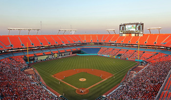 MIAMI GARDENS, FL - MAY 10:  General View of Sun Life Stadium during a game between the Philadelphia Phillies and the Florida Marlins on May 10, 2011 in Miami Gardens, Florida.  (Photo by Mike Ehrmann/Getty Images)