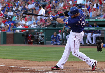 2010 AL MVP Josh Hamilton nearly equaled his totals as the Rangers won the West.