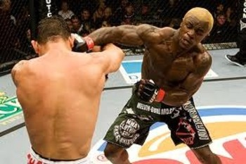 Melvin Guillard landing a solid right hook