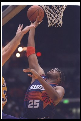 20 Jan 1994: Center Oliver Miller of the Phoenix Suns goes up for two during a game against the Los Angeles Lakers at the Great Western Forum in Inglewood, California.