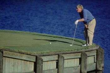 22 Mar 2001:  John Daly steps back to line up his puttduring the Players Championship at The Players Club at Sawgrass in Ponte Vedra Beach, Florida.Mandatory Credit: Harry How  /Allsport