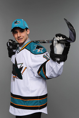 ST PAUL, MN - JUNE 25:  47th overall pick Matt Nieto by the San Jose Sharks poses for a photo portrait during day two of the 2011 NHL Entry Draft at Xcel Energy Center on June 25, 2011 in St Paul, Minnesota.  (Photo by Nick Laham/Getty Images)