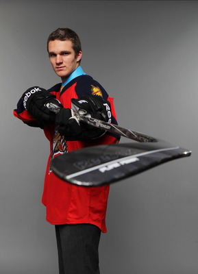 ST PAUL, MN - JUNE 24:  Third overall pick Jonathan Huberdeau by the Florida Panthers poses for a photo portrait during day one of the 2011 NHL Entry Draft at Xcel Energy Center on June 24, 2011 in St Paul, Minnesota.  (Photo by Nick Laham/Getty Images)
