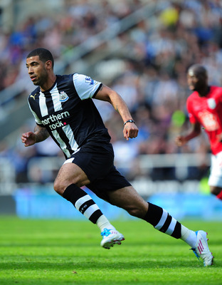 NEWCASTLE UPON TYNE, ENGLAND - MAY 22:  Newcastle player Leon Best in action during the Barclays Premier League game between Newcastle United and West Bromwich Albion at St James' Park on May 22, 2011 in Newcastle upon Tyne, England.  (Photo by Stu Forste