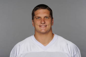MIAMI, FL - CIRCA 2010: In this handout image provided by the NFL,  Jake Long of the Miami Dolphins poses for his 2010 NFL headshot circa 2010 in Miami, Florida. (Photo by NFL via Getty Images)