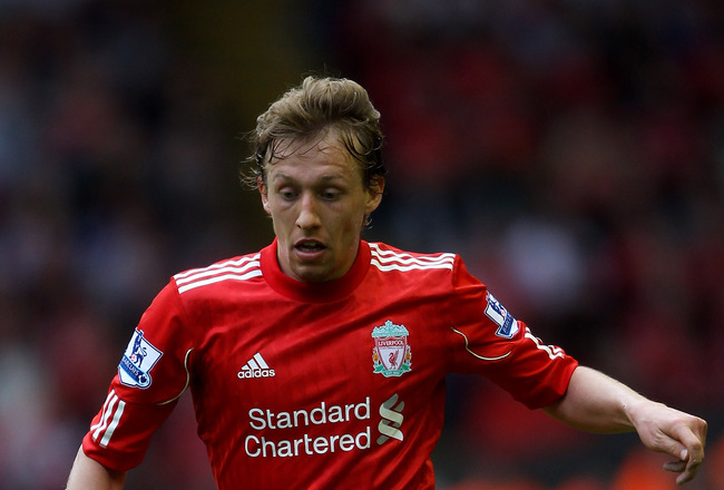LIVERPOOL, ENGLAND - APRIL 23:  Lucas of Liverpool in action during the Barclays Premier League match between Liverpool and Birmingham City at Anfield on April 23, 2011 in Liverpool, England. (Photo by Clive Brunskill/Getty Images)
