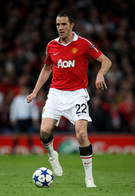 MANCHESTER, ENGLAND - APRIL 12:  John O'Shea of Manchester United in action during the UEFA Champions League Quarter Final second leg match between Manchester United and Chelsea at Old Trafford on April 12, 2011 in Manchester, England.  (Photo by Alex Liv