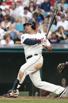 CLEVELAND, OH - JUNE 18:  Asdrubal Cabrera #13 of the Cleveland Indians bats against the Pittsburgh Pirates in the second inning of their game on June 18, 2011 at Progressive Field in Cleveland, Ohio.  The Indians defeated the Pirates 5-1.  (Photo by Davi
