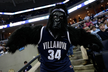 MEMPHIS, TN - MARCH 29:  A Villanova fan wears a gorilla suit during the North Carolina Tar Heels and Oklahoma Sooners NCAA Men's Basketball Tournament South Regional Final at the FedExForum on March 29, 2009 in Memphis, Tennessee. Villanova will play the