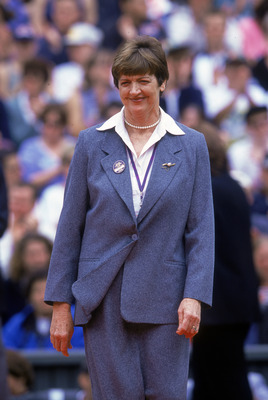Retired Australian tennis player Margaret Smith Court at Wimbledon, 1st July 2000. (Photo by Clive Brunskill/Getty Images)