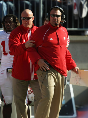 Ben Herbert (center) with Coach Bielema