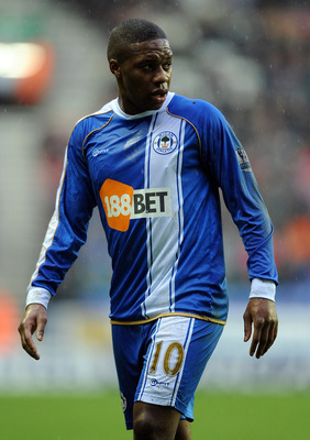 WIGAN, ENGLAND - FEBRUARY 05:  Charles N'Zogbia of Wigan Athletic looks on during the Barclays Premier League match between Wigan Athletic and Blackburn Rovers at DW Stadium on February 5, 2011 in Wigan, England.  (Photo by Chris Brunskill/Getty Images)