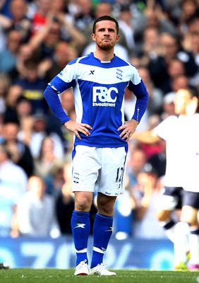 LONDON, ENGLAND - MAY 22:  Barry Ferguson of Birmingham City looks dejected after a goal by  Roman Pavlyuchenko of Tottenham Hotspur during the Barclays Premier League match between Tottenham Hotspur and Birmingham City at White Hart Lane on May 22, 2011