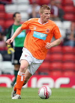 BRISTOL, ENGLAND - JULY 31:  Keith Southern of Blackpool in action during the pre-season friendly match between Bristol City and Blackpool at Ashton Gate on July 31, 2010 in Bristol, England.  (Photo by Jan Kruger/Getty Images)