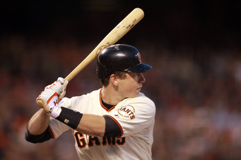 SAN FRANCISCO, CA - MAY 24:  Buster Posey #28 of the San Francisco Giants bats against the Florida Marlins at AT&T Park on May 24, 2011 in San Francisco, California.  (Photo by Ezra Shaw/Getty Images)