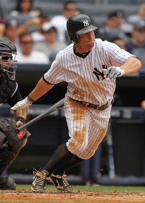 NEW YORK, NY - JUNE 25:  Brett Gardner #11 of the New York Yankees in action against the Colorado Rockies during their game on June 25, 2011 at Yankee Stadium in the Bronx borough of New York City.  (Photo by Al Bello/Getty Images)