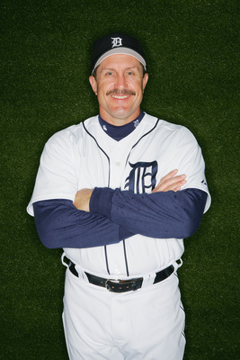LAKELAND, FL - FEBRUARY 27:  Lance Parrish of the Detroit Tigers poses for a portrait during Tigers Photo Day at Joker Marchant Stadium on February 27, 2005 in Lakeland, Florida.  (Photo by Matthew Stockman/Getty Images)