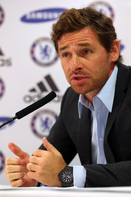 LONDON, ENGLAND - JUNE 29:  Andre Villas-Boas talks to the media after being unveiled as the new Chelsea Manager during a press conference at Stamford Bridge on June 29, 2011 in London, England.  (Photo by Clive Rose/Getty Images)