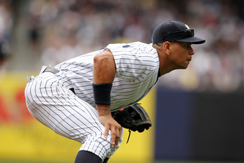 NEW YORK, NY - JUNE 26:  Alex Rodriguez #13 of the New York Yankees in action against the Colorado Rockies during their game on June 26, 2011 at Yankee Stadium in the Bronx borough of New York City.  (Photo by Al Bello/Getty Images)