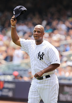 NEW YORK, NY - JUNE 26:  Darryl Strawberry is introduced during The New York Yankees 65th Old Timers Day game on June 26, 2011 at Yankee Stadium in the Bronx borough of New York City.  (Photo by Al Bello/Getty Images)