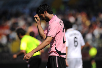 PARMA, ITALY - MAY 01:  Javier Pastore of Palermo shows his dejection during the Serie A match between Parma FC and US Citta di Palermo at Stadio Ennio Tardini on May 1, 2011 in Parma, Italy.  (Photo by Tullio M. Puglia/Getty Images)
