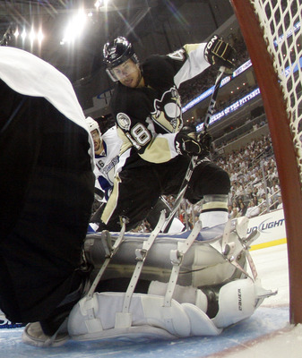 PITTSBURGH, PA - APRIL 27:  Tyler Kennedy #48 of the Pittsburgh Penguins skates against the Tampa Bay Lightning in Game Seven of the Eastern Conference Quarterfinals during the 2011 NHL Stanley Cup Playoffs at Consol Energy Center on April 27, 2011 in Pit
