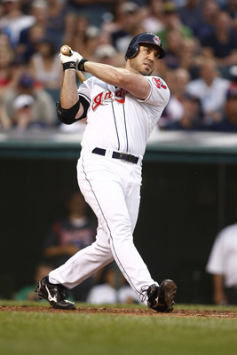 CLEVELAND, OH - JUNE 22:  Travis Hafner #48 of the Cleveland Indians connects for a homerun during the game against the Colorado Rockies on June 22, 2011 at Progressive Field in Cleveland, Ohio.  The Cleveland Indians defeated the Colorado Rockies 4-3. (P