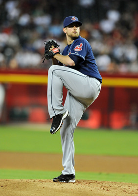 PHOENIX, AZ - JUNE 27:  Starting Pitcher Mitch Talbot #51 of the Cleveland Indians delivers a pitch in the first inning against the Arizona Diamondbacks at Chase Field on June 27, 2011 in Phoenix, Arizona.  (Photo by Norm Hall/Getty Images)