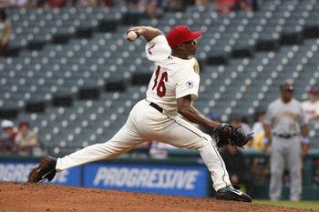 CLEVELAND, OH - JUNE 19:  Tony Sipp #46 of the Cleveland Indians pitches against the Pittsburgh Pirates during their game on June 19, 2011 at Progressive Field in Cleveland, Ohio.  The Indians defeated the Pirates 5-2 in 11 innings.  (Photo by David Maxwe