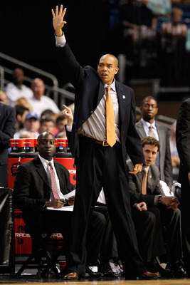 TAMPA, FL - MARCH 17:  Head coach Sydney Johnson of the Princeton Tigers reacts as he coaches against the Kentucky Wildcats during the second round of the 2011 NCAA men's basketball tournament at St. Pete Times Forum on March 17, 2011 in Tampa, Florida. K